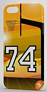 Basketball Sports Fan Player Number 74 Snap On Decorative iphone 5s Case