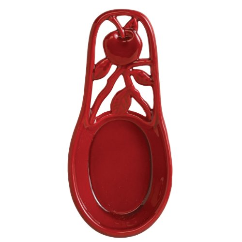 red cast iron spoon rest - 7