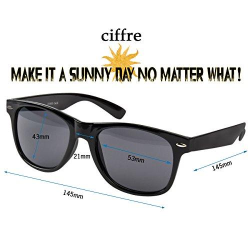 Gafas sol Smoke mujer de Classic Schwarz para Ciffre n1qa1x
