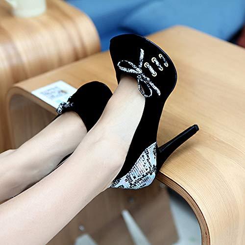 Sandali Heel Sera Pastello festa Novità Ladies Fine Office Primavera Nero E Carriera amp; Moda Yesmile Col estate Tacco scarpe Donna Scarpe Color Alto Da 78Tx76qr