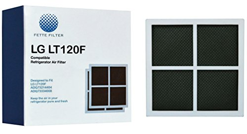 Fette Filter LG LT120F Compatible Refrigerator Air Filter, Replaces Part # ADQ73334008 and ADQ73214404, 2 Piece