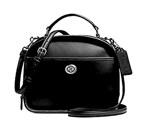 - COACH Retro Glove Tanned Lunch Pail in Smooth Calf Leather (Black)