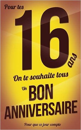 carte anniversaire 16 ans Bon anniversaire   16 ans   Carte livre d'or: Taille M (12, 7x20cm