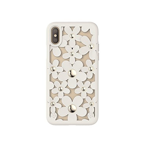 - SWITCHEASY Fleur 3D Flowers for iPhone X Protective TPU Case with Native Touch Buttons Antique White