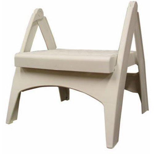 Gentil Adams Manufacturing 8530 48 3700 Quik Fold Step Stool, White