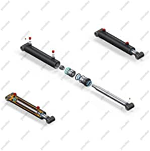 Hydraulic cylinder double acting DW cylinder 50//28 400 stroke with...