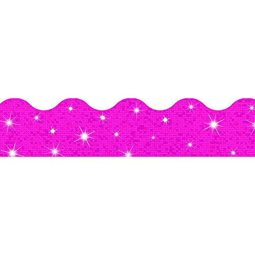 Trend Enterprises Inc. Hot Pink Sparkle Terrific Trimmers, 32.5 ()
