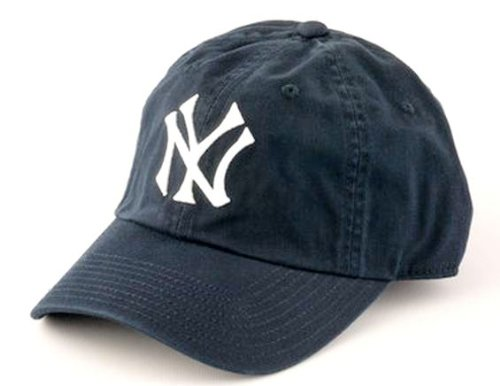 New Raglin Distressed Cotton Twill Adjustable Dad Hat (Navy, Adjustable) (Ny Yankees Fabric)