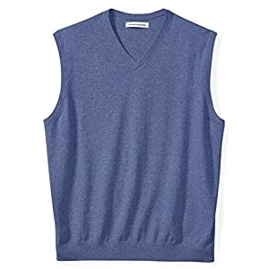 Amazon Essentials Men's Big & Tall V-Neck Sweater Vest fit by DXL