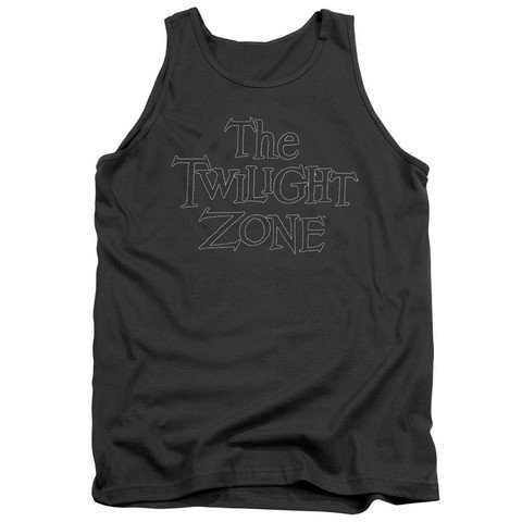 Trevco Twilight Zone-Spiral Logo Adult Tank Top Charcoal44; Extra Large
