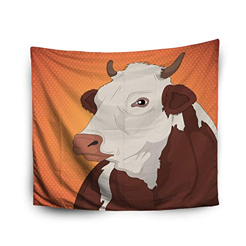 Pamime Home Decor Tapestry for Halloween Cow Animal