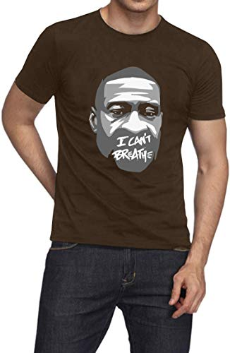 GBaoY I Can't Breath O-Neck T-Shirt, Justice for George Floyd Short Sleeve Tee Men Women
