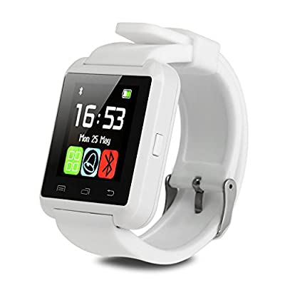 IRULU Bluetooth Smart Watch WristWatch Phone For Android IOS, Samsung, iPhone, LG Smartphone White