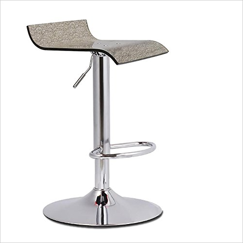 C FUL-Swivel Chair European Style Bar Stool, Acrylic Bar Chair Lift Bar Stool Home Leisure Swivel High Stools Multi color, 60cm80cm (color   C)