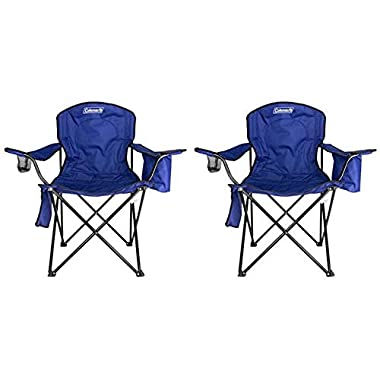 2-Pack Coleman Camping - Lawn Chairs With Built-In Cooler, Blue | 2 x 2000020266