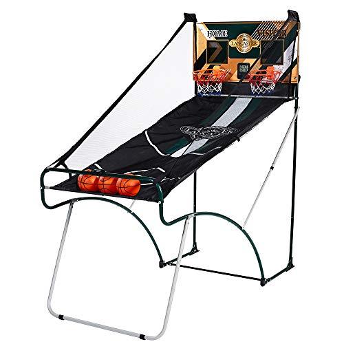 Lancaster Sports EZ-Fold 2 Player Indoor Traditional Arcade Basketball - Gameroom Games Arcade