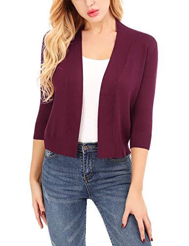 Uniboutique Thin Jacket Women Cotton Lightweight Cardigans 3/4 Sleeve