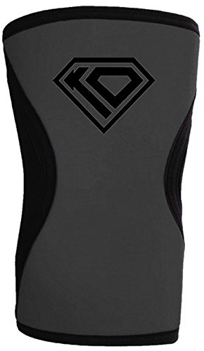 KO Sports Gear Black and Grey Neoprene Knee Pad - for Wrestling Takedowns and MMA Workouts - Shooting Sleeve (Adult Medium)