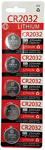 (GI 3 Volt 2032 Battery, CR2032 Lithium 3v Coin Cell Watch Battery (5))
