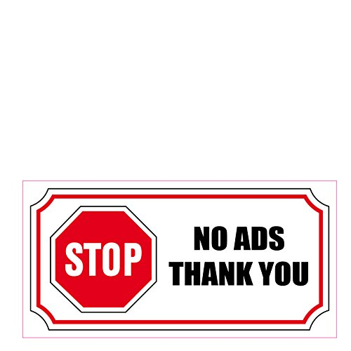 Sticker STOP NO ADS THANK YOU STOP ADS 2x