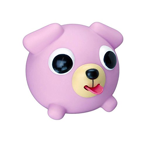 Japan Oshaberi Doubutsu Talking Animal Jabber Ball by Sankyo Toys - Borukuma Stress Relievers Squishy Ball - Purple Dog
