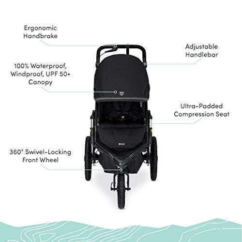 410PU4QnYsL - BOB Gear Alterrain Pro Jogging Stroller | One-Hand Quick Fold - Smoothshox + Airfilled Tires, Black