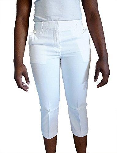 Talbots Heritage Womens White Crop Capri Pants Size 12 Petite