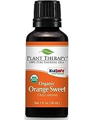 Plant Therapy Orange Sweet Organic Essential Oil 30 mL (1 oz) 100% Pure, Undiluted, Therapeutic Grade