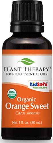 Plant Therapy Orange Sweet Organic Essential Oil 30 mL (1 oz) 100% Pure, Undiluted, Therapeutic Grade