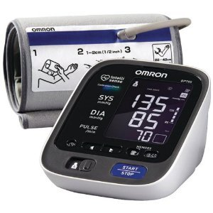Omron BP785 10 Series Upper Arm Blood Pressure Monitor, Black/white