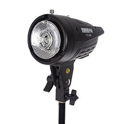StudioPRO 400 Watt Monolight Strobe Flash Photography Lighting Kit for Wedding, Food Blogging, Portrait, Product Photo - (2) 200W/s Flash Head with Light Stands & 20\