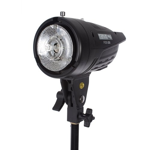 Fovitec StudioPRO Professional Photography Studio 200W/s Monolight Strobe Flash Lamp Head with Bowens Style Mount by Fovitec