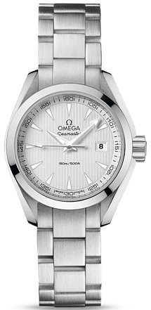 Omega Aqua Terra Silver Dial Stainless Steel Ladies Watch 23110306002001