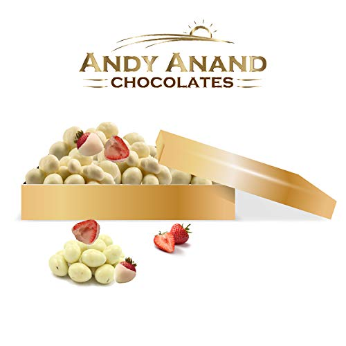 Andy Anand's Chocolates Basket- Premium California Farm Fresh Strawberries covered with Greek Yogurt, All Natural, Made from Natural Ingredients- 1 LBS
