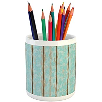 amazon com seashells pencil pen holder by ambesonne summer beach