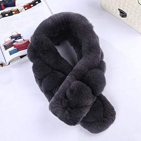 Cuello hogar para las mujeres, nacola Real piel de conejo de punto bufandas, con forma de escalera Thich cálido cuello hogar Wrap para otoño invierno Navidad regalo: Amazon.es: Juguetes y juegos