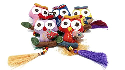 Keychain Owl handmade dolls set 5 pcs. (Party City In Aurora Co)