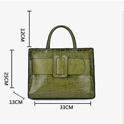 PU De Crocodile Bag à Zipper De DHFUD Des Red Sac Messenger Femmes Main Sac à Main BanC7W