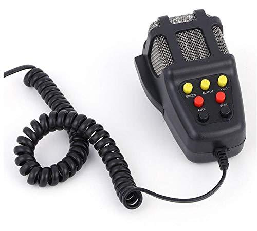 Mioke 12V 100W 7 Ton Sound Auto Sirene Lautsprecher Fahrzeug Horn mit Mic PA Polizei Notfallsignal Hupe