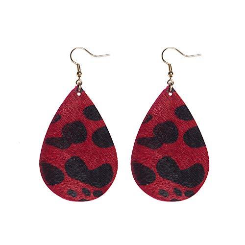 Cow Spot Leather Earrings Leather Earrings For Women Leopard Print Earrings Hook Earrings