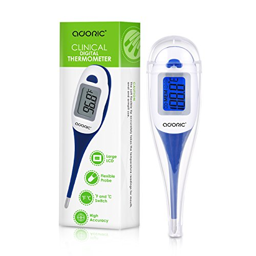 Digital Thermometer, Armpit and Oral Thermometer for Kids with Flexible Tip, Fever Body Temperature Indicator for Children Babies - Accurate and Fast Readings
