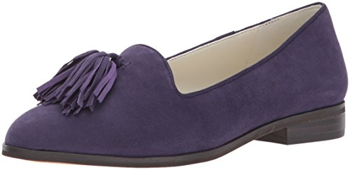 Women's Devina Suede Loafer Flat, Purple, 8.5 M US (Anne Klein Loafers)