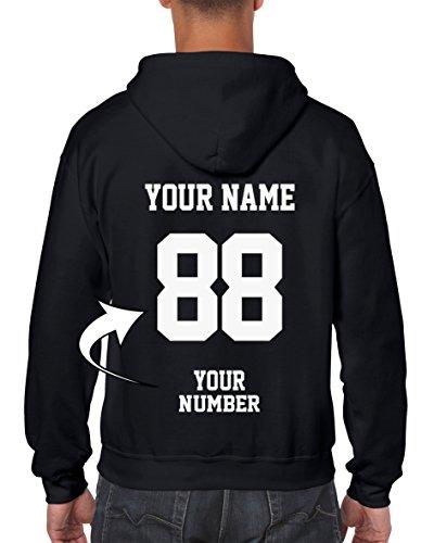 Design Your OWN Hoodie - Custom Jersey Full-Zip Hoodies - Zip Up Sweatshirts