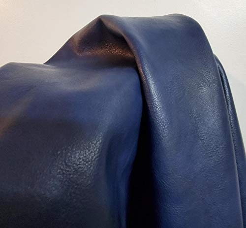 Navy Blue Faux Leather by The Yard Synthetic Pleather 0.9 mm Madison Smooth 1 Yard 52 inch Wide x 36 inch Long Soft Smooth Vinyl Upholstery (Navy)