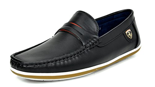 Bruno-MARC-MODA-ITALY-BUSH-Mens-Casual-Rubber-Sole-Driving-Loafers-Stitched-Lining-Slip-On-Boat-Shoes