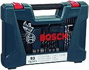 Kit de pontas e brocas em titânio Bosch V-Line com 83 peças