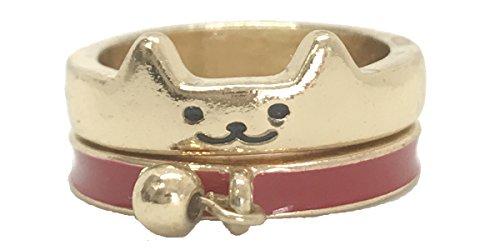 Boutique Whisker to Whisker Grin Ring Set (gold-plated-base)
