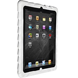 Apple iPad 2 iPad 3 iPad 4 Drop Tech White Gumdrop Cases Silicone Rugged Shock Absorbing Protective Dual Layer Cover Case