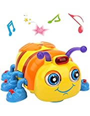 LUKAT Musical Baby Toy for Toddlers, Crawling and Singing Bee Toys
