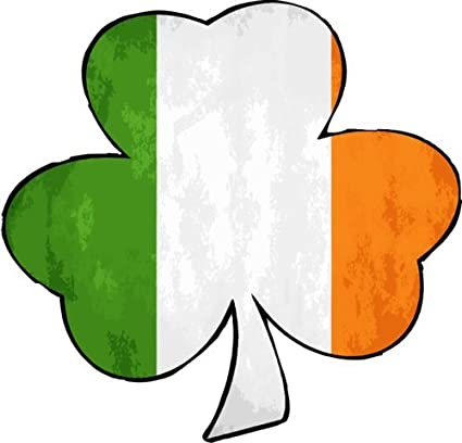 Irish flag decal irish flag shamrock vinyl sticker irish shamrock bumper sticker shamrock